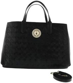 Versace EE1VRBBD8 Black Tote Bag W/ detachable strap