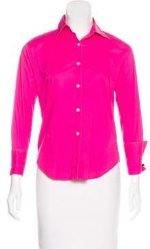 Barneys New York Barney's New York Collared Button-Up Top
