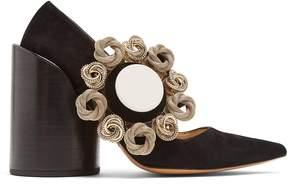 Jacquemus Le Chaussures Boucle suede pumps