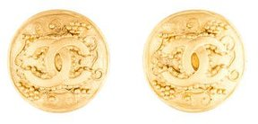 Chanel CC Grapevine Clip-On Earrings