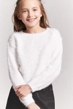 Forever 21 Girls Fuzzy Knit Sweater (Kids)
