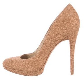 Brian Atwood Cork Round-Toe Pumps