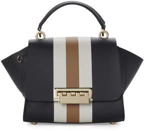Zac Posen Black & Brown Eartha Iconic Mini Bag