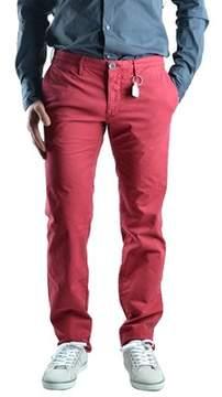 Siviglia Men's Red Cotton Pants.