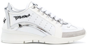 DSQUARED2 graffiti detailed heeled sneakers