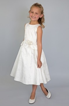 Us Angels Toddler Girl's Peplum Brocade Dress