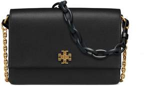 Tory Burch KIRA DOUBLE-STRAP SHOULDER BAG - BLACK - STYLE