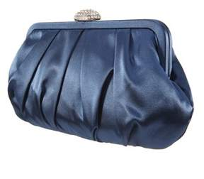 Nina Pleated Fram Clutch/pave Clasp.