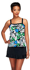 Fit 4 U As Is D's and E's Oasis Bandeau Skirtini with Ruffle