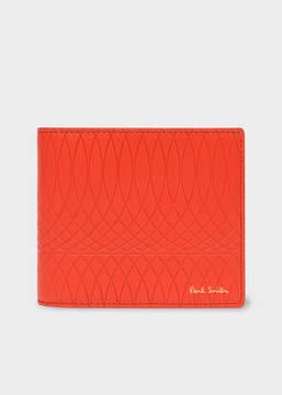 Paul Smith No.9 - Scarlet Red Leather Billfold Wallet With Red And Black Interior