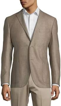 Corneliani Men's Plaid Notch Jacket