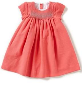 Edgehill Collection Little Girls 2T-4T Smocked Cap-Sleeve A-Line Dress