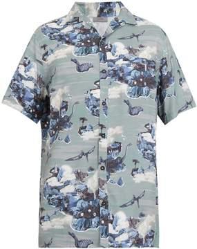 Lanvin Dinosaur-print bowling shirt