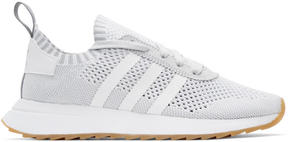 adidas White and Grey Flashback Sneakers