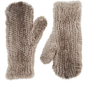 Barneys New York Women's Knitted Mink Fur Mittens