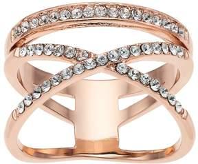 Brilliance+ Brilliance X & Bar Ring with Swarovski Crystals
