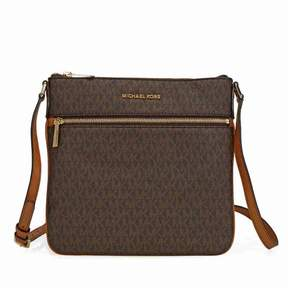 Michael Kors Bedford Signature Flat Crossbody - Brown - BROWN - STYLE