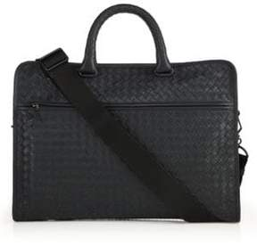 Bottega Veneta Leggeron Intrecciato Leather Briefcase