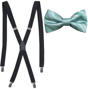 Jf J.Ferrar JF Striped Bowtie and Suspender Set