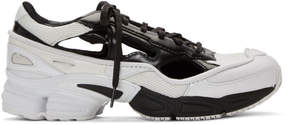 Raf Simons Black and White adidas Originals Edition Ozweego Replicant Sneakers