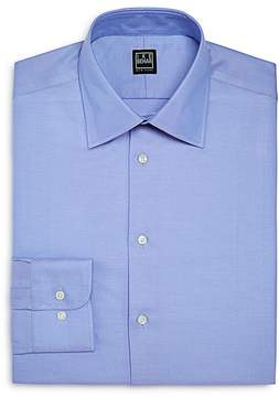 Ike Behar Twill Solid Regular Fit Dress Shirt