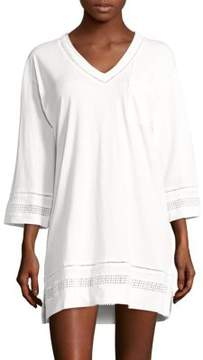 Carole Hochman Open-Work Cotton Short Gown