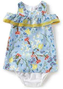 Rare Editions Baby Girls 12-24 Months Floral Cold-Shoulder Dress