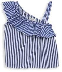 Milly Minis Toddler's, Little Girl's& Girl's One-Shoulder Ruffle Top