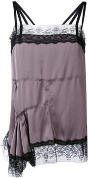 A.F.Vandevorst asymmetric lace trim blouse