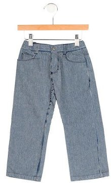 Petit Bateau Girls' Striped Jeans