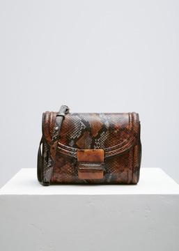 Dries Van Noten brown snakeskin shoulder bag