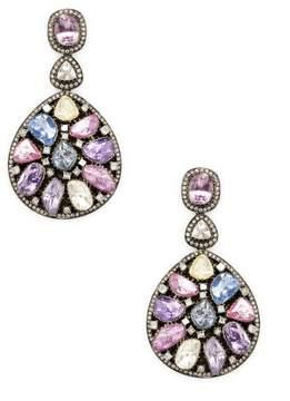 Amrapali Women's Diamond and Tourmaline Drop Earrings