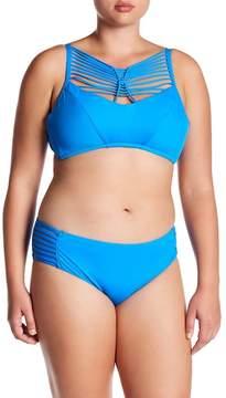 Becca Electric Current Strappy Bikini Top (Plus Size)