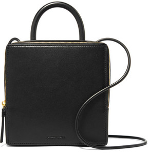 Building Block - Box Leather Shoulder Bag - Black