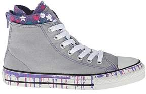 Converse Girls Chuck Taylor All Star Back Zip Lucky Stone Sneaker - 5