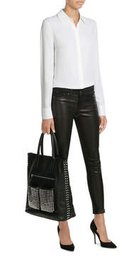 Steffen Schraut Embellished Leather Tote