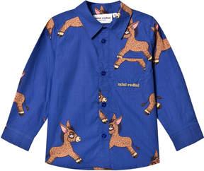 Mini Rodini Blue Donkey Woven Shirt