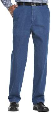 Haggar Big & Tall Work to Weekend® Flat-Front Denim Pants