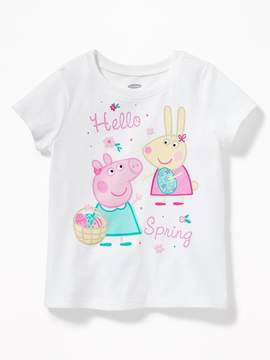 Old Navy Peppa Pig Hello Spring Graphic Tee for Toddler Girls