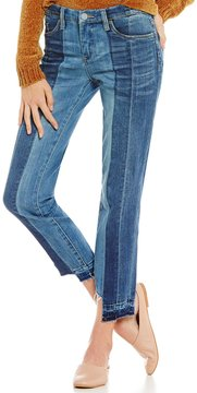 Chelsea & Violet Step Up Crop Pieced Denim Jean