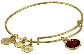 Alex and Ani January Birthstone Charm Bangle Bracelet