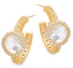Freida Rothman Crystal Hoop Earrings