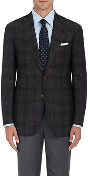 Kiton Men's KB Plaid Cashmere-Blend Two-Button Sportcoat