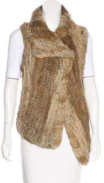 Calypso Knit Fur Vest