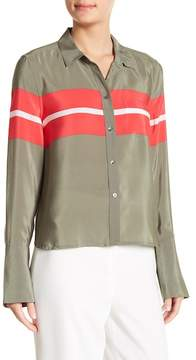 Equipment Huntley Colorblock Stripe Silk Shirt