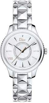 Christian Dior VIII Montaigne Diamond, Mother-Of-Pearl & Stainless Steel Bracelet Watch