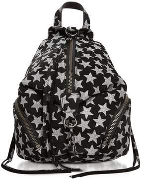 Rebecca Minkoff Black Leather Convertible Mini Julian Backpack W/stars - BLACK - STYLE