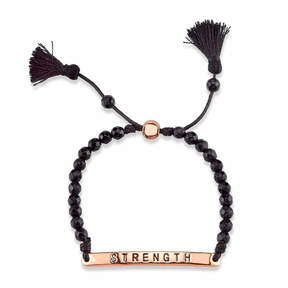 Footnotes Womens Black Brass Bolo Bracelet