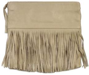 BLow The Belt Leather Fringe Foldover Bag