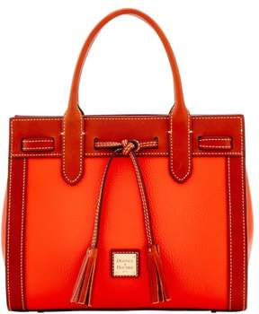 Dooney & Bourke Pebble Grain Ariel Satchel - PERSIMMON - STYLE